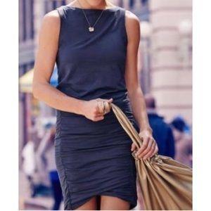 Athleta Tulip Stretch Knit Ruched Sleeveless Dress